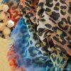 Sjaal Happy Leoparty oranje orange lange gekleurde damessjaals met tijgerprint dierenprint leopard print bestellen yehwang