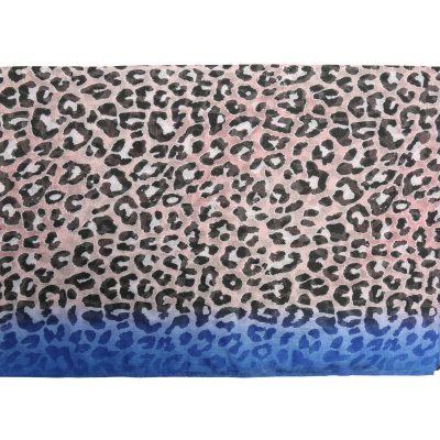 Sjaal Happy Leoparty roze pink blauwe lange gekleurde damessjaals met tijgerprint dierenprint leopard print bestellen yehwang