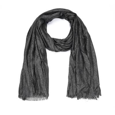 Sjaal-Pretty-Sparkle-donker zilver zilveren-glitter-sjaals-polyester-dames-lange-sjaals-glans-kopen-bestellen-trendy-sh
