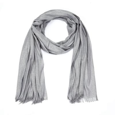 Sjaal-Pretty-Sparkle-grijs grijze glitter-sjaals-polyester-dames-lange-sjaals-glans-kopen-bestellen-trendy-sh