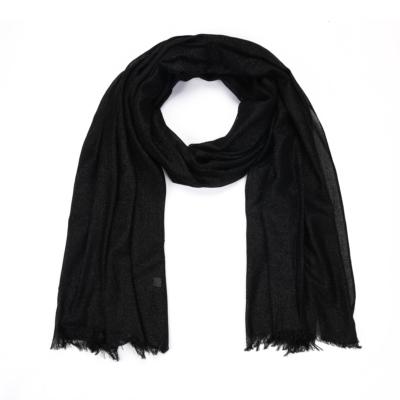 Sjaal-Pretty-Sparkle-zwart zwarte-glitter-sjaals-polyester-dames-lange-sjaals-glans-kopen-bestellen-trendy-sh