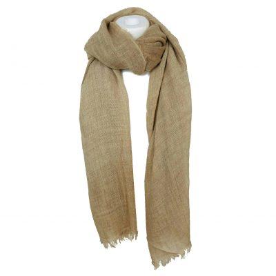 Sjaal Uni Vibes taupe beige nude sjaals viscose acryll wollen sjaals online kopen bestellen dames omslagdoeken