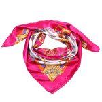Sjaaltje Chain Fantasy pink roze fushia gouden sjaaltjes bandana print kleine dames sjaals felle fashion kopen bestellen