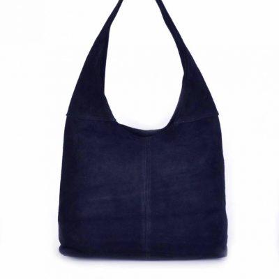 Suede-Tas-Mille donker blauw-blauwe-tassen-suede-goedkope-dames-tassen leer suede leder-itbags-online-bestellen-kopen-guiliano