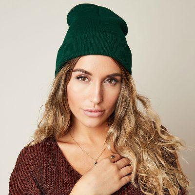 Muts Beanie Simple donker groen groene army mutsen beanies winter accessoires kopen bestellen velle kleuren yehwang
