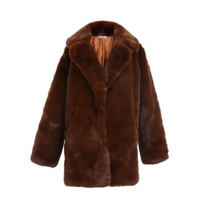 Bontjas Warm Winter bruin bruine half Lange-Teddy-Coat-jas-jassen -wollen-winter-jassen-online-dikke-warm-kopen-bestellen-online-goedkoop