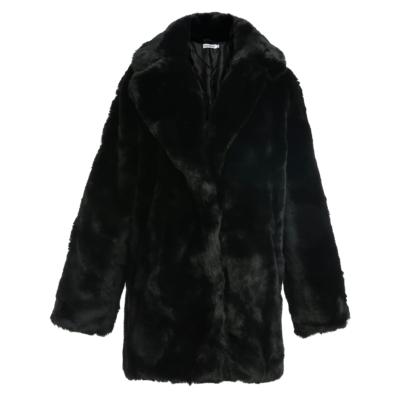 Bontjas Warm Winter zwart zwarte half Lange-Teddy-Coat-jas-jassen -wollen-winter-jassen-online-dikke-warm-kopen-bestellen-online-goedkoop