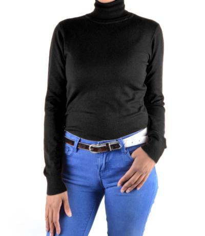 Coltrui-Basic-zwart zwarte -coltruien-dames-zachte-viscose-truien-lange-mouwen-col-werkkleding-dames-online-giuliano-goedkoop
