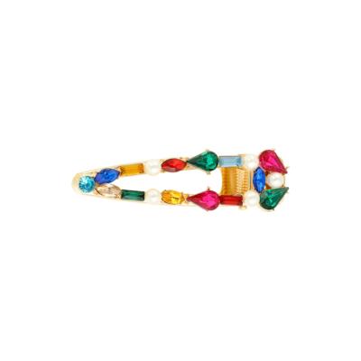 Haarclip Rainbow Pearls gouden grote haarclips verschillen regenboog kleuren multi dames haar accessoires online kopen