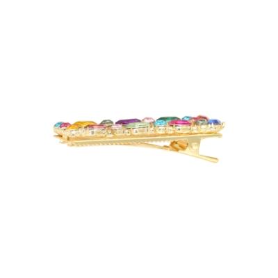 Haarclip Rainbow Square gouden grote haarclips verschillen regenboog kleuren multi dames haar accessoires online kopen trends