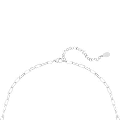 Ketting Love Lock zilver zilveren dames kettingen necklages schakelketting met slotje zikornia steentje slot kopen kado bestellen achter