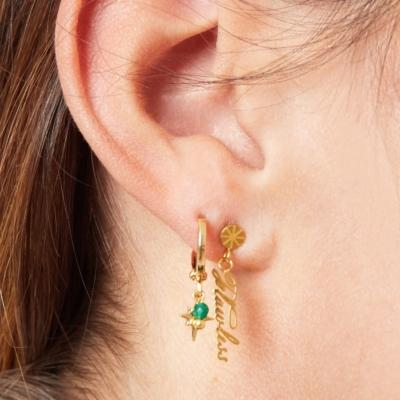 Oorbellen Flawless goud gouden oorbellen met tekst yehwang sieraden dames online kopen bestellen oorhangers kado trends