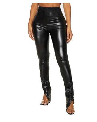 Zwarte-Leren-Legging-Split-zwart-broeken-le