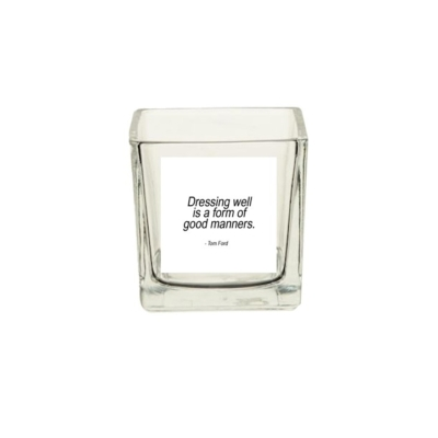 Doorzichtige waxinelichthouder dressing well quote-tom-ford musthave fashion