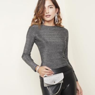 Heuptas Glitter Night zilver zilveren riemtas strass steentjes zilveren ketting trends kopen