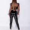 Lak Legging zwart zwarte wet-look-high-waist-leggings glans sexy dames kopen achter