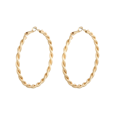 Oorbellen Creola Hoops Isla goud gouden gedraaide creolen oorbellen trendy sieraden kopen