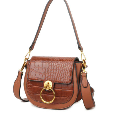 Schoudertas-Snake-Gold-Ring-bruin bruine -tassen-itbags-kunstleder-snake-giuliano-tas-luxe-trendy-kopen