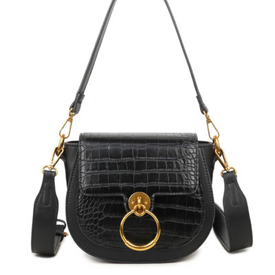 Schoudertas-Snake-Gold-Ring-blauw blauwe -tassen-itbags-kunstleder-snake-giuliano-tas-luxe-trendy-kopen-grote-gouden-ring