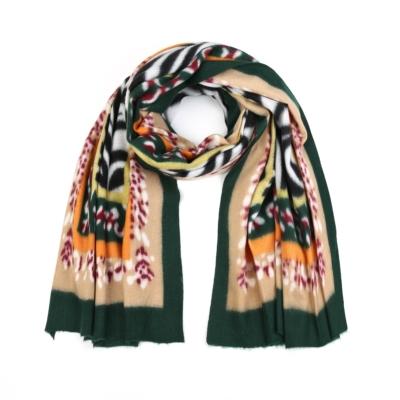 Sjaal Colorful Zebra groen groene multi print warme zachte print sjaal