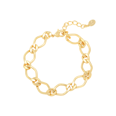Armband Chunky Chains goud gouden dames armbanden schakelarmband rvs bracelet trendy kopen