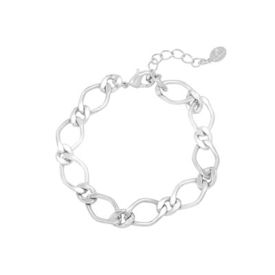 Armband Chunky Chains zilver zilveren dames armbanden schakelarmband rvs bracelet trendy kopen