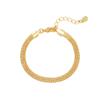 Armband Snaky Chains goud gouden dames armbanden gevlochten rvs bracelet trendy kopen schakelarmband