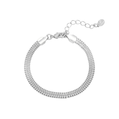 Armband Snaky Chains zilver zilveren dames armbanden gevlochten rvs bracelet trendy kopen