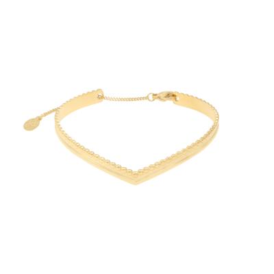 Armband Victoria goud gouden dames armbanden hartvorm rvs bracelet trendy kopen