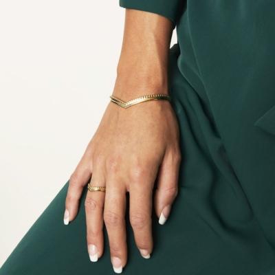 Armband Victoria goud gouden dames armbanden hartvorm rvs bracelet trendy kopen bestellen