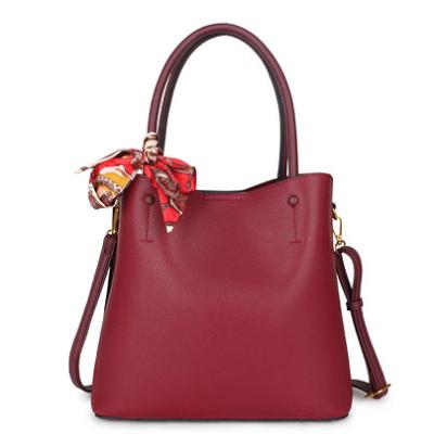 Handtas Classy Scarf rood rode tassen met sjaaltje trendy kopen achter