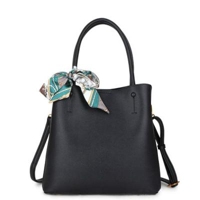Handtas Classy Scarf zwart zwarte tassen met sjaaltje trendy kopen