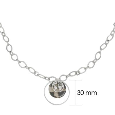 Ketting Explorer Chains zilver zilveren dames kettingen schakelketting met bedels rvs neckage trendy bestellen