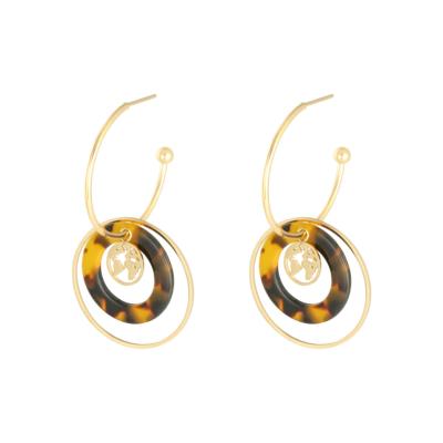 Oorbellen Explorer goud gouden dames oorbellen met bedels rvs earrings trendy bestellen