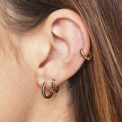 Oorbellen Setje Rounds goud gouden dames oorbellen met steentjes rvs earrings trendy bestellen