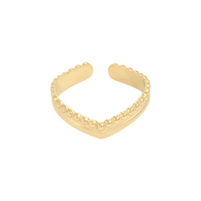 Ring Victoria goud gouden dames oorbellen ringen in v vorm trendy kopen bestellen