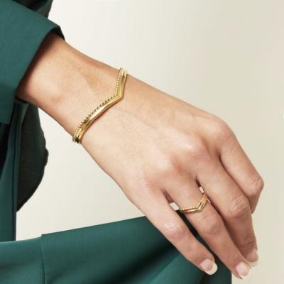 Ring Victoria goud gouden dames oorbellen ringen in v vorm trendy kopen bestellen details