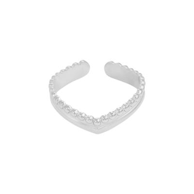 Ring Victoria zilver zilveren dames oorbellen ringen in v vorm trendy kopen bestellen