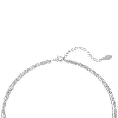 Ketting Star & Moon zilver zilveren kettingen set 3 lagen ketting met maan en ster bedel schakelketting kopen yewang sieraden achter