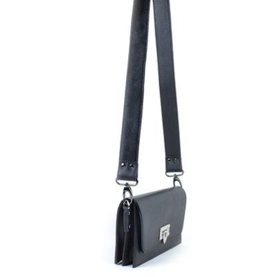 Leren Schouderband Koevacht zwart zwarte losse schouderbanden tassen kopen