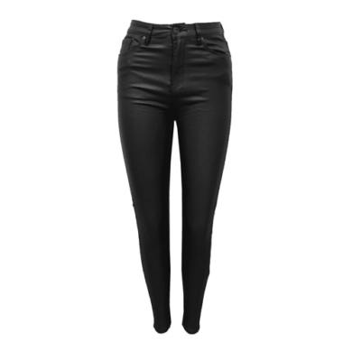 Leren Skinny Jeans zwart zwarte leren dames broeken zakken voor achter trendy lederen legging kopen online