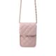 Telefoontasje Coco Chain roze pink kleine schoudertassen gevoerde schakelketting stiksels tassen tasjes festival kopen