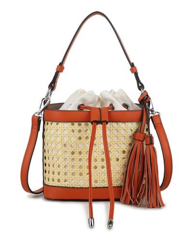 Buideltas Classy Braided geel gele schoudertassen rieten gevlochten detail trendy tassen tas kopen bestellen