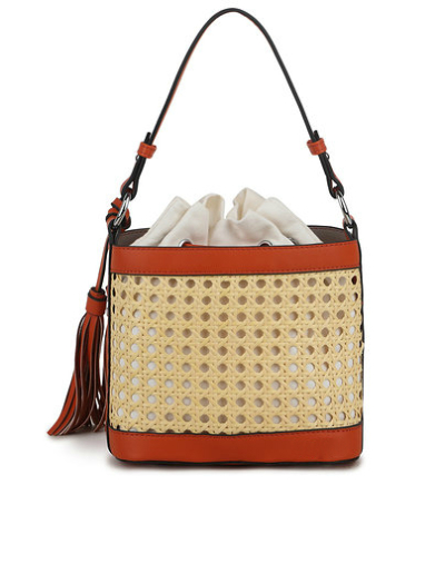 Buideltas Classy Braided bruin bruine schoudertassen rieten gevlochten detail trendy tassen tas kopen bestellen achter