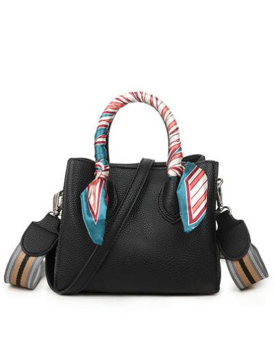 Handtas Pretty Special zwart zwarte handtassen extra gekleurde schouderband & sjaaltje schoudertassen kopen bestellen