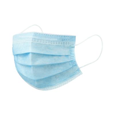 Mondkapje 3 hypo-allergene lagen in non-woven materiaal met elastieken bandjes anti corona blauw harmonica