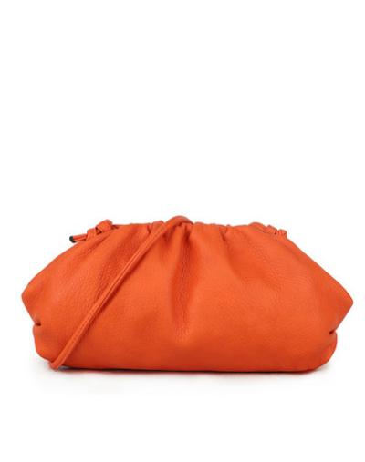 Tas Long John oranje orange lange dames tassen kunstleder trendy schoudertassen kopen bestellen goedkoop