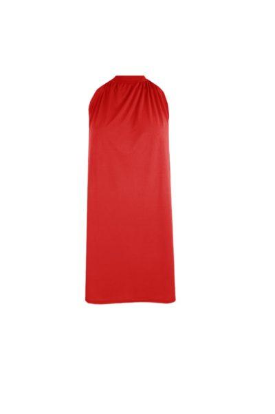Halterjurk Paige rood rode halter jurk korte mouwen trendy dames jurken fashion bestellen kopen