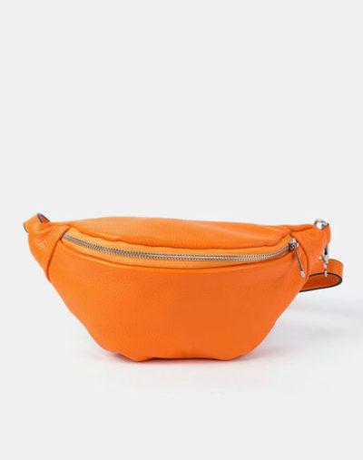Leren-Heuptas-Simple-oker geel oranje-fannypack-beltbag-riemtassen-leder-leer-heuptassen-kopen-fashion