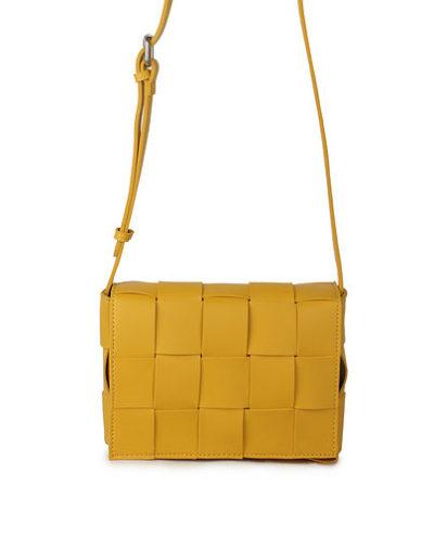 Schoudertas Big Braided gele geel trendy schoudertassen gevlochten motief stoere hippe tassen kopen bestellen